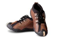 Zapatos de cuero casuales aislados en blanco Imágenes de archivo libres de regalías