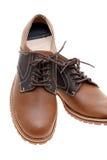 Zapatos de cuero de Brown Fotos de archivo libres de regalías