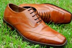 Zapatos de cuero de los hombres Foto de archivo