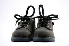Zapatos de cuero de los niños Fotos de archivo