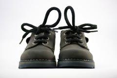 Zapatos de cuero de los niños Imagenes de archivo