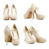 Zapatos de cuero de patente Fotografía de archivo libre de regalías