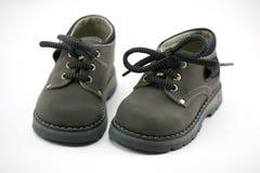 Zapatos de cuero del bebé Foto de archivo libre de regalías