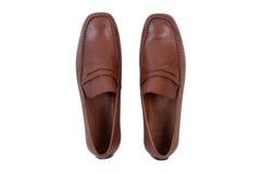 Zapatos de cuero del hombre clásico imagen de archivo
