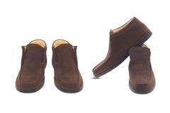 Zapatos de cuero del mens de Brown foto de archivo