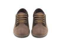 Zapatos de cuero del mens de Brown fotos de archivo libres de regalías
