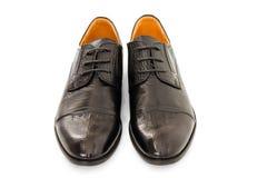 Zapatos de cuero de los varones fotos de archivo