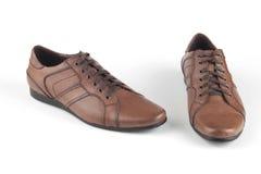 Zapatos de cuero marrones claros foto de archivo libre de regalías