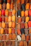 Zapatos de cuero marroquíes Imágenes de archivo libres de regalías