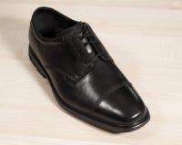 Zapatos de cuero negros Fotografía de archivo libre de regalías