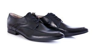 Zapatos de cuero negros Imágenes de archivo libres de regalías