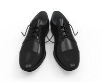 Zapatos de cuero negros stock de ilustración