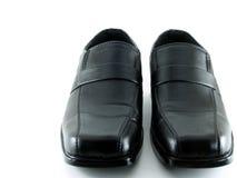 Zapatos de cuero negros Foto de archivo libre de regalías