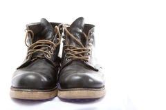 Zapatos de cuero negros para los hombres Imagen de archivo libre de regalías