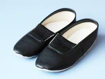 Zapatos de cuero para los deportes, zapatos cómodos del ` s de los niños Fotografía de archivo