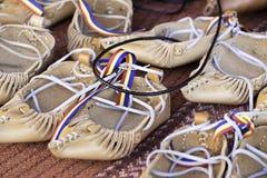 Zapatos de cuero retros Fotos de archivo libres de regalías