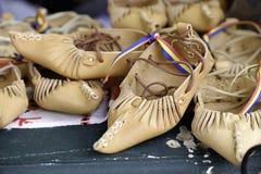 Zapatos de cuero retros Imágenes de archivo libres de regalías