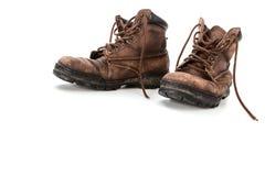 Zapatos de cuero viejos Imagen de archivo