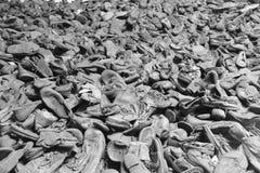 Zapatos de deportado en Auschwitz Fotografía de archivo