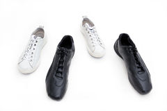 Zapatos de gimnasia femeninos y masculinos Foto de archivo libre de regalías