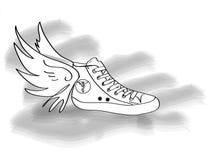 Zapatos de gimnasio de Mercury Ilustración del Vector