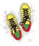 Zapatos de Grunge Imagenes de archivo