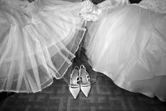 Zapatos de la boda Imagen de archivo libre de regalías