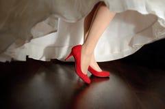 Zapatos de la boda fotos de archivo