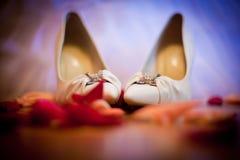 Zapatos de la boda Imágenes de archivo libres de regalías