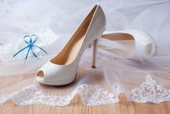 Zapatos de la boda. Imágenes de archivo libres de regalías