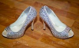 Zapatos de la boda Foto de archivo