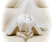 Zapatos de la boda Foto de archivo libre de regalías