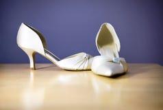 Zapatos de la boda imagen de archivo