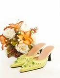 Zapatos de la boda del Malay Fotografía de archivo libre de regalías