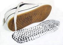 Zapatos de la calle del estilo del patín fotografía de archivo libre de regalías