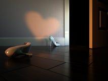 Zapatos de la Cinderella Fotografía de archivo libre de regalías