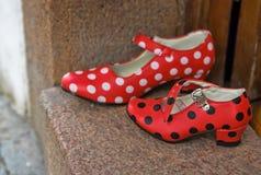 Zapatos de la danza del flamenco Foto de archivo libre de regalías