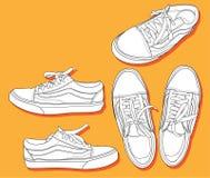 Zapatos de la escuela vieja Fotografía de archivo libre de regalías