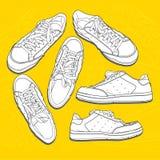 Zapatos de la escuela vieja Fotos de archivo