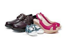 Zapatos de la familia Foto de archivo libre de regalías