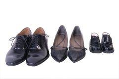 Zapatos de la familia Imágenes de archivo libres de regalías