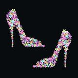 zapatos de la flor Fotografía de archivo