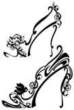 Zapatos de la flor Imágenes de archivo libres de regalías