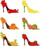 Zapatos de la fruta ilustración del vector