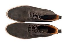 Zapatos de la gamuza marrón imagen de archivo
