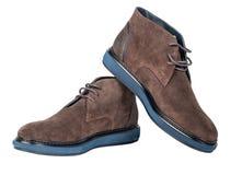 Zapatos de la gamuza marrón fotografía de archivo