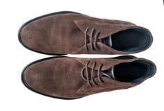 Zapatos de la gamuza marrón foto de archivo