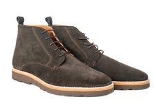 Zapatos de la gamuza marrón imágenes de archivo libres de regalías