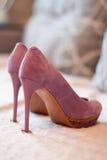 Zapatos de la lila Imagen de archivo libre de regalías