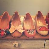 Zapatos de la manera de la vendimia fotografía de archivo libre de regalías